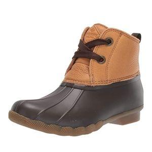 Sperry Saltwater 2 Eye Tan/Brown Rain Boots